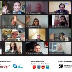 print fotografii uczestników debaty on-line