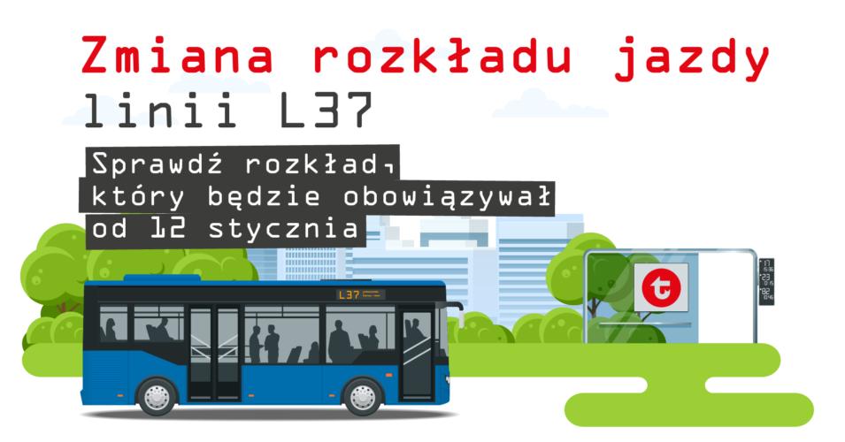 Niebieski autobus przy przystanku