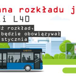 Zmiana rozkładu jazdy linii L40 od 18 stycznia
