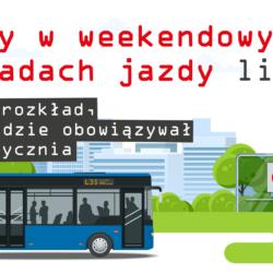 Zmiany w weekendowych rozkładach jazdy linii L