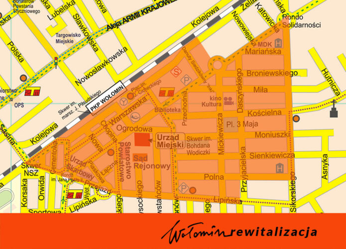 grafika przedstawiająca obszar rewitalizacji