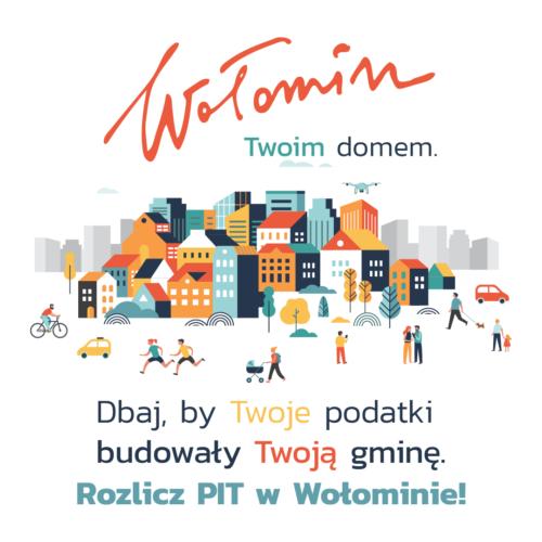 rozlicz PIT w Wołominie - grafika z miastem