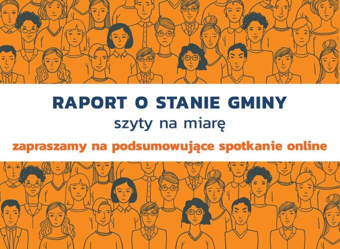 grafika przedstawiająca schematycznie narysowanych ludzi z tekstem zapraszającym na spotkanie online