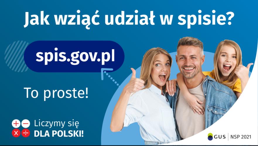Plakat nt. Narodowego Spisu Powszechnego