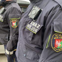 Strażnicy Miejscy z Wołomina testują kamery osobiste