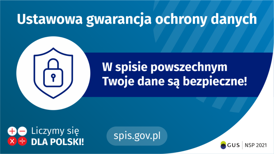 Ustawowa gwarancyjna danych przy spisie powszechnym grafika
