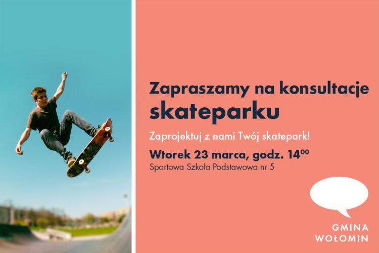 Zaproszenie na konsultacje skateparku