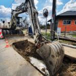 budowa kanalizacji sanitarnej w Duczkach