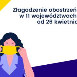 Złagodzenie obostrzeń w 11 województwach od 26 kwietnia