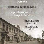 Spotkanie organizacyjne dotyczące XVII tomu Rocznika Wołomińskiego