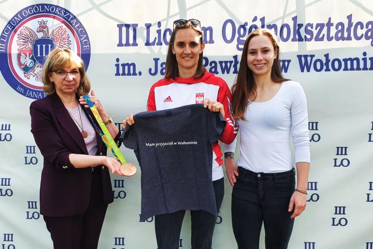 burmistrz Wołomina i medalistka olimpijska