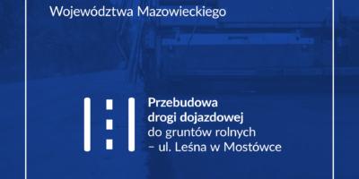 Grafika na dofinansowanie przebudowy ul. Leśnej