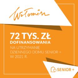 """72 tys. zł dofinansowania na wsparcie Dziennego Domu """"Senior+"""""""