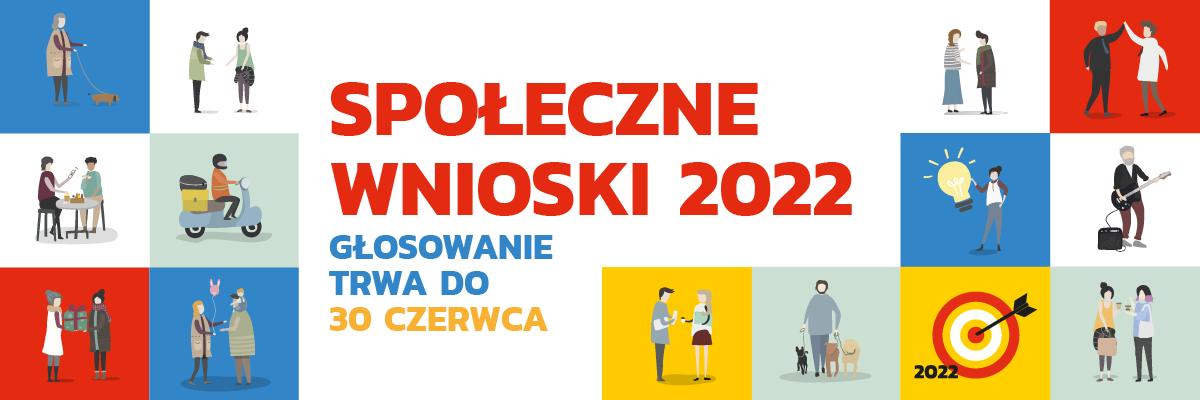 Społeczne Wnioski 2022 głosowaie które trwa od 07 do 30 czerwca