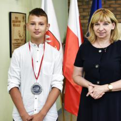 Burmistrz Wołomina z wicemistrzem Polski