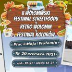 Plakat II Wołomińskiego Festiwalu Streetfood-u