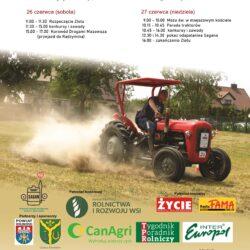 Plakat dot. zlotu traktorzystów