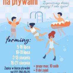 plakat wakacje na pływalni
