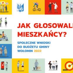 """grafika z kwadracikami i schematycznymi postaciami ludzików z napisem """"jak głosowali mieszkańcy"""""""