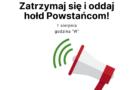 Włączenie syren alarmowych w 77. rocznicę wybuchu Powstania Warszawskiego