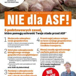 nie dla ASF plakat