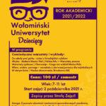 Wołomiński Uniwersytet Dziecięcy 2021/22   MDK Wołomin