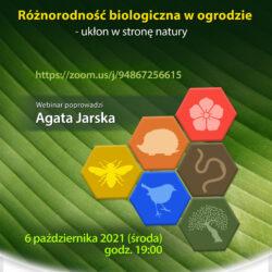 """Webinar """"Różnorodność biologiczna w ogrodzie - ukłon w stronę natury"""""""