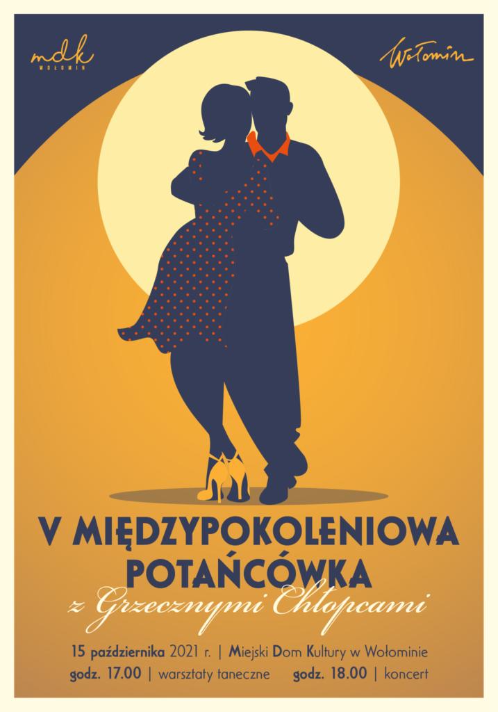 plakat potańcówka międzypokoleniowa