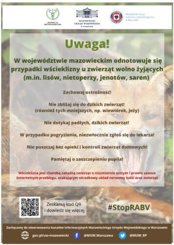 Wścieklizna w woj. mazowieckim